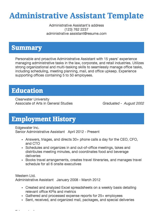 office assistant resume example resume com