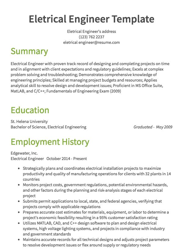 Sample Resumes Example Resumes With Proper Formatting Resume