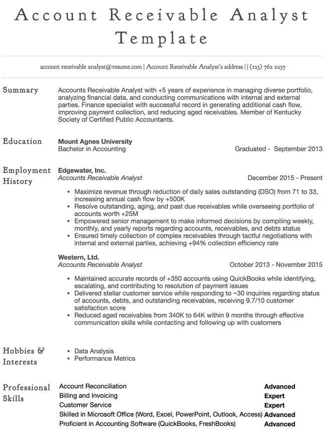 Accounts Payable Resume Samples All Experience Levels