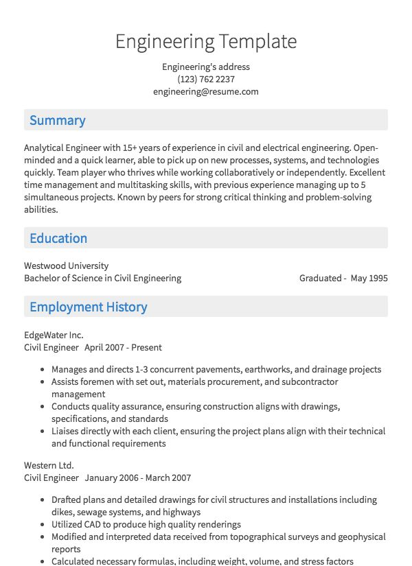 thumbnail image of engineering resumes  from Resume.com