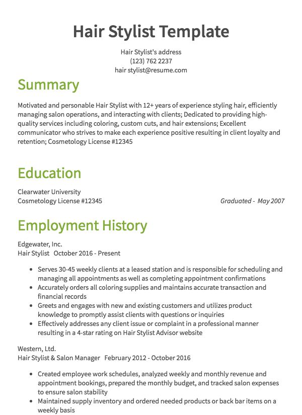 thumbnail image of health and beauty resumes  from Resume.com