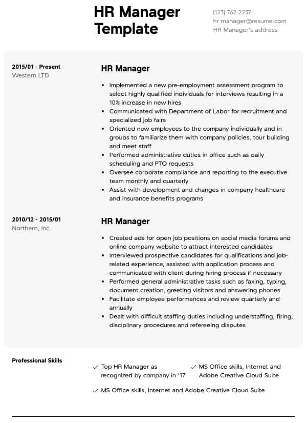 thumbnail image of human resources resumes  from Resume.com