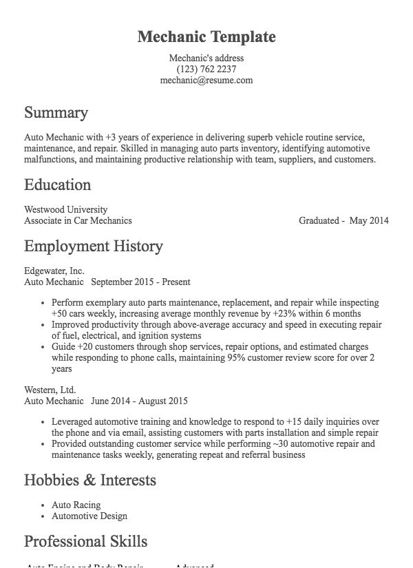 Welder Resume Sample Resume Com