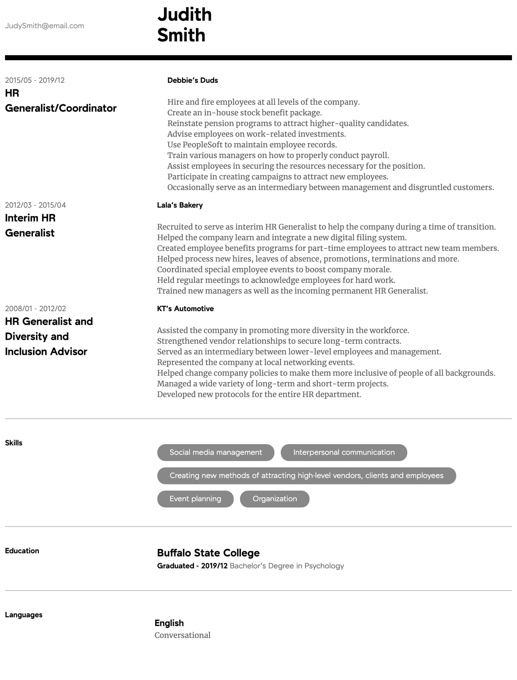 Hr Generalist Cover Letter from img.resume.com