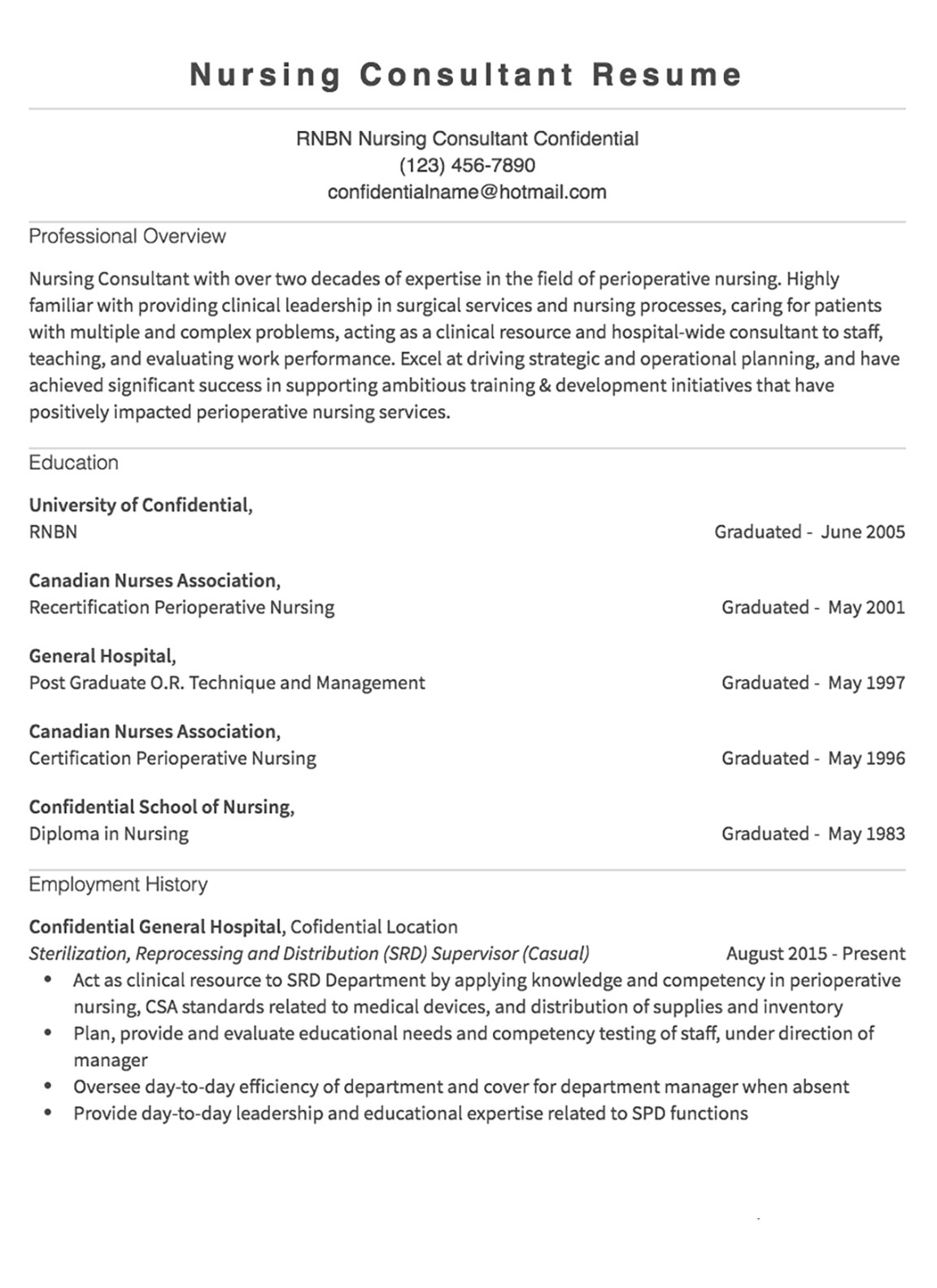 Resume Samples 125 Free Example Resumes Amp Formats