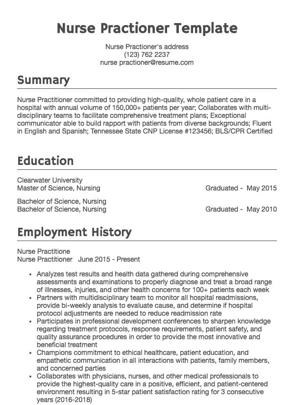 30 Nursing Resume Examples Amp Samples Written By Rn